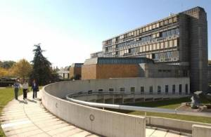 Main building of HEC Lausanne, the affiliated business school of the University of Lausanne