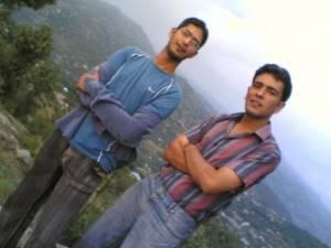 Jutt & qaiser (maorri) enjoying music, on heavenly hills of Kasmir, 7000 meters above from the see level... by Liaqat Jutt