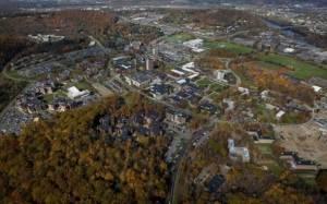 Aerial view of Binghamton University, State University of New York