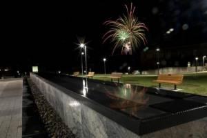 Fireworks on Campus at Binghamton University, State University of New York
