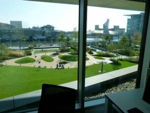 View out of the window - MediaCityUK campus