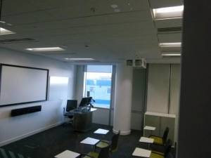Teaching room used by Salford MBA students at MediaCityUK campus