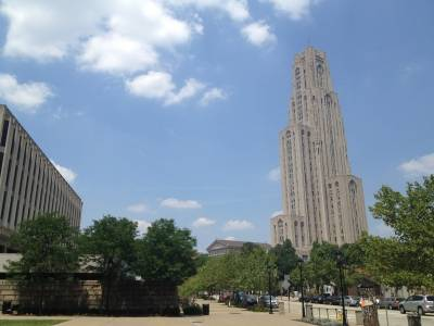 The Cathedral of Learning - the tallest building in the western hemisphere devoted to learning.