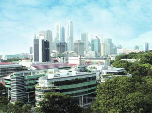SMU Campus in the heart of Singapore's civic district