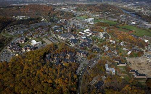 Aerial view of Binghamton University, State University of New York