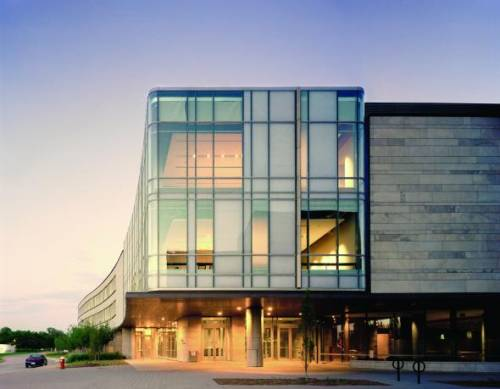 Exterior shot of the main building of the Schulich School of Business complex, the Seymour Schulich Building.