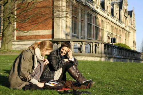 Solvay Brussels School Students on campus