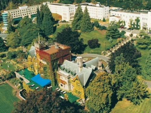 Aerial shot of Royal Roads campus