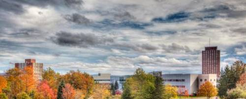 View of Binghamton University Campus, State University of New York