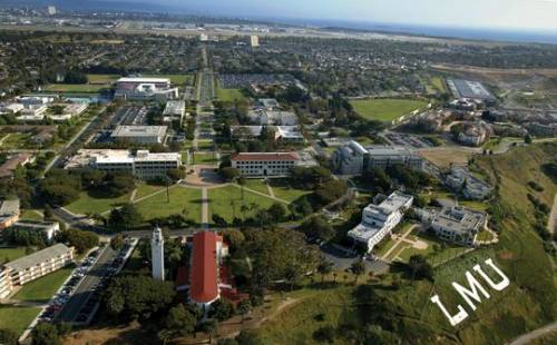 Aerial view of LMU.