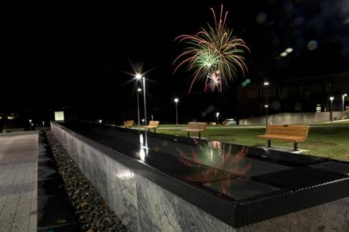 Fireworks on Campus at Binghamton University, State University of New York