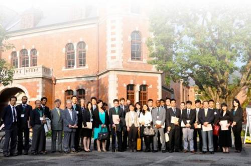 Students and faculty at Doshisha Business School
