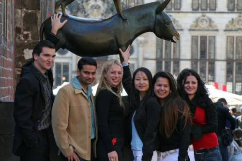 IGC International Students at the town musicians of Bremen