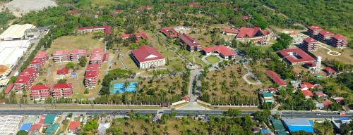 A bird's eye-view of the AIIAS Campus.