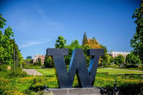 "Bronze ""W"" at Rainier Vista"
