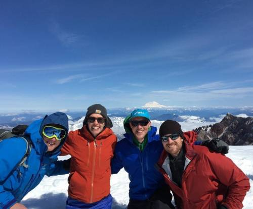 Students at the top of Mt. Rainier
