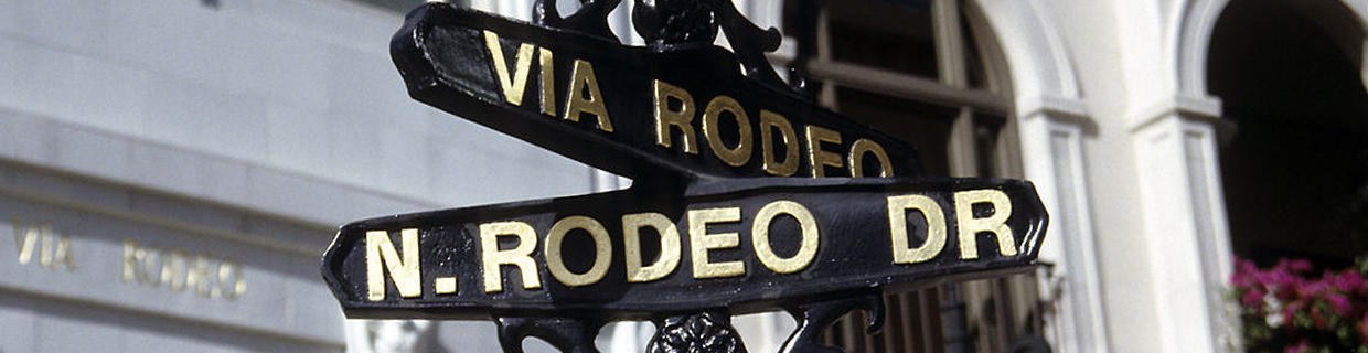 Those who graduate from MBA programs in luxury might find themselves working on Rodeo Drive, a hub for luxury